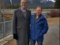 With Mike Luzine, Alberta, 2017
