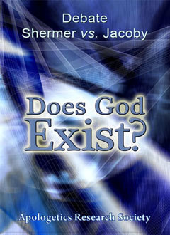 Debate 1 Does God Exist? Jacoby vs. Shermer